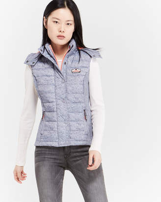Superdry Fuji Double Zip Slim Puffer Vest