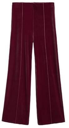 MANGO Flared velvet trousers