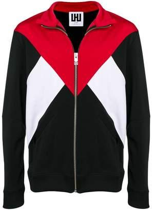 Les Hommes Urban tri-colour zipped sweater