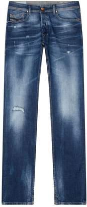 Diesel Distressed Slim-Fit Tepphar Jeans