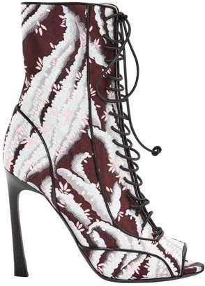 Giambattista Valli Burgundy Cloth Ankle boots