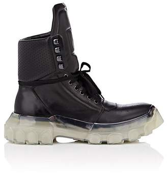 Rick Owens Men's Tractor Dunk Leather Lace-Up Boots