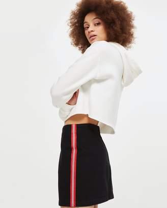 PETITE Side Striped A-Line Skirt
