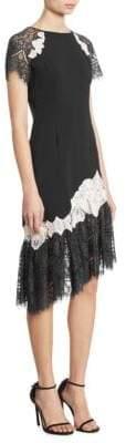 Jonathan Simkhai Asymmetrical Lace-Trim Sheath Dress