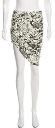 Pam & Gela Asymmetrical Print Skirt
