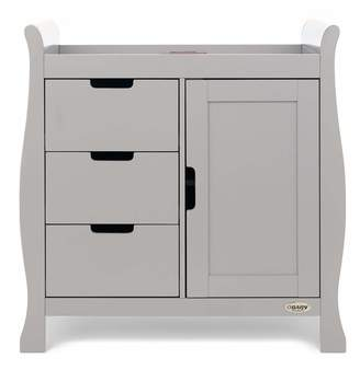 O Baby Obaby Stamford Closed Changing Unit - Warm Grey