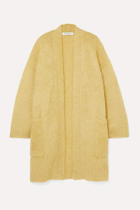 Max Mara Sampang Oversized Mohair-blend Cardigan - Yellow