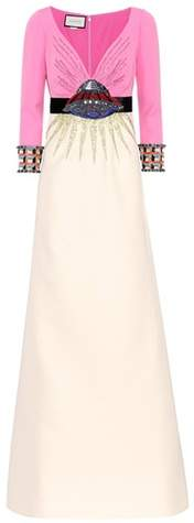 Gucci Embellished wool and silk gown