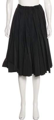 Y-3 Pleated Knee-Length Skirt
