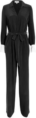 L'Agence Justine Silk Tuxedo Jumpsuit