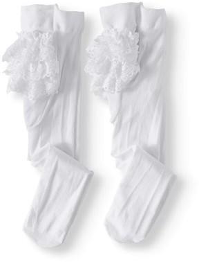 Jefferies Socks Lace Ruffle Rhumba Tights, 2-pack (Baby Girls)