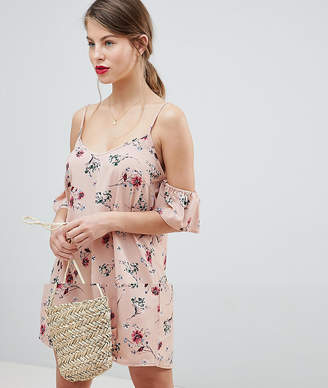 Vila Floral Cold Shoulder Dress