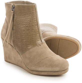 TOMS High Desert Wedge Ankle Boots - Suede (For Women) $59.99 thestylecure.com