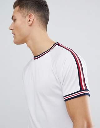 Bellfield T-Shirt In Mesh With Stripe