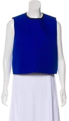 Victoria Beckham Victoria Sleeveless Tweed Top w/ Tags