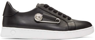 Versus Black Safety Pin Sneakers