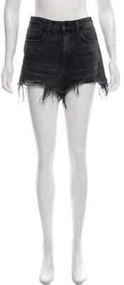 Alexander Wang Denim x High-Rise Denim Shorts