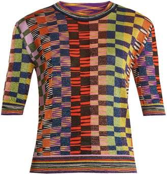 Missoni Square-print short-sleeve top