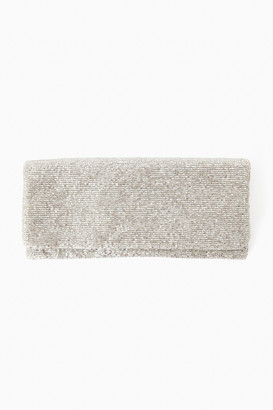 Pomander Place Silver Beaded Clutch