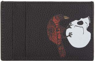 Alexander McQueen Raven and Skull Leather Card Holder
