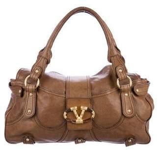 Valentino Leather Catch Bag