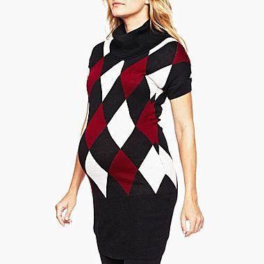 JCPenney Maternity Argyle Sweater Dress