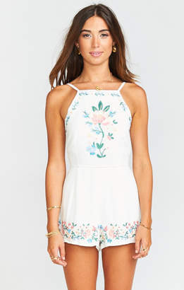 MUMU Eloise Romper ~ Once Upon a Flower Embroidery