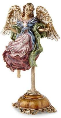 Jay Strongwater Flying Angel Figurine with Stand