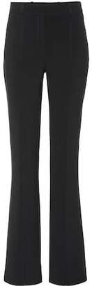 Victoria Beckham Victoria Mid-rise flared wool-blend pants