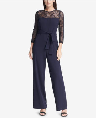 DKNY Belted Lace Jumpsuit