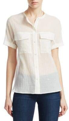 Theory Riley Summer Cotton Button-Down