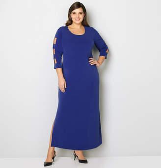 Avenue Cutout Sleeve Maxi Dress