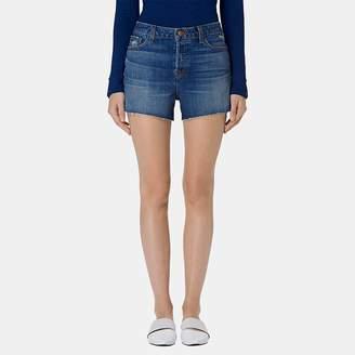 J Brand Gracie High-Rise Short with Raw Hem in Metropolis