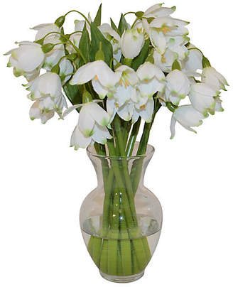 """11"""" Snowdrops in Garden Urn - Faux - The French Bee"""
