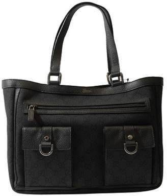 Gucci Black Denim Abbey Tote Handbag Purse 268639 1160
