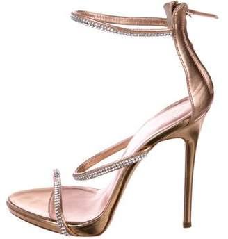 Giuseppe Zanotti Coline 110 Embellished Leather Sandals