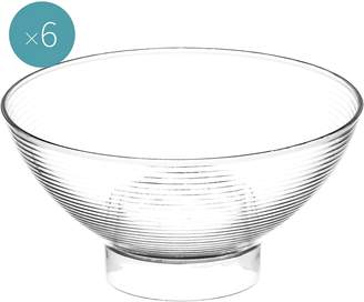 clear Gold Plast Plastic Dessert Bowl, Medium (Set of 6),