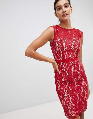 Little Mistress lace pencil dress