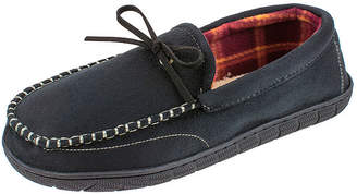 Dockers Wide Width Plaid Lined Moccasin Slippers