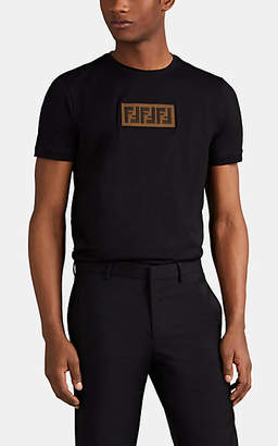 Fendi Men's Logo Cotton Fitted T-Shirt - Black