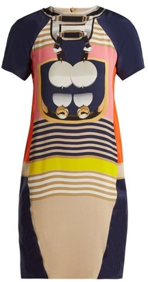 Mary Katrantzou Graphic Print Crepe Mini Dress - Womens - Black Multi