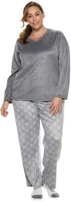 Croft & Barrow Plus Size Minky Fleece 3-piece Pajama Set