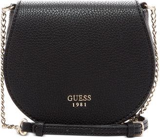 GUESS Cate Mini Saddle Crossbody Bag $60 thestylecure.com