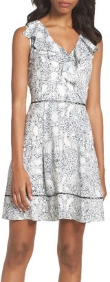 Women's Adelyn Rae Ruffle Fit & Flare Dress $100 thestylecure.com