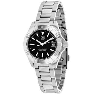 Tag Heuer AQUARACER WAY1410.BA0920 27mm Silver Steel Bracelet & Case Anti-Reflective Sapphire Women's Watch