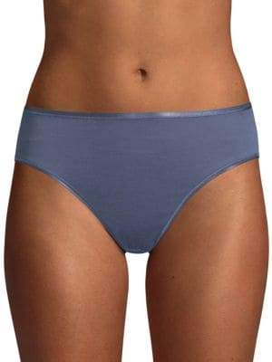 Hanro Cotton Seamless Hi-Cut Full Brief