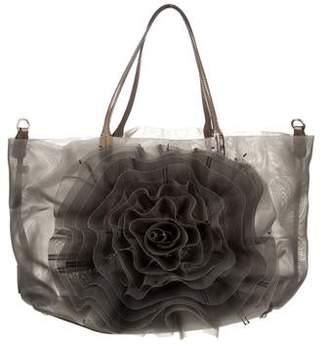 Valentino Mesh Rosette Bag