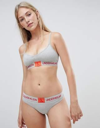 Calvin Klein Monogram thong grey