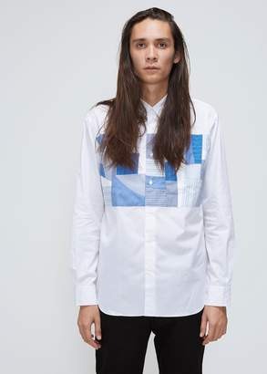 Comme des Garcons Homme Stripe Check Mix Shirt