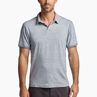 James Perse MELANGE JERSEY RINGER POLO